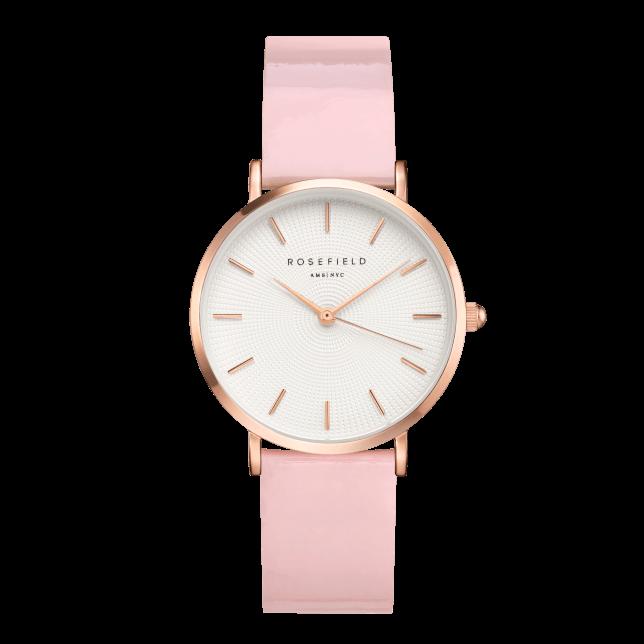 Rosefield Premium Gloss White Pink Rosegold 33mm