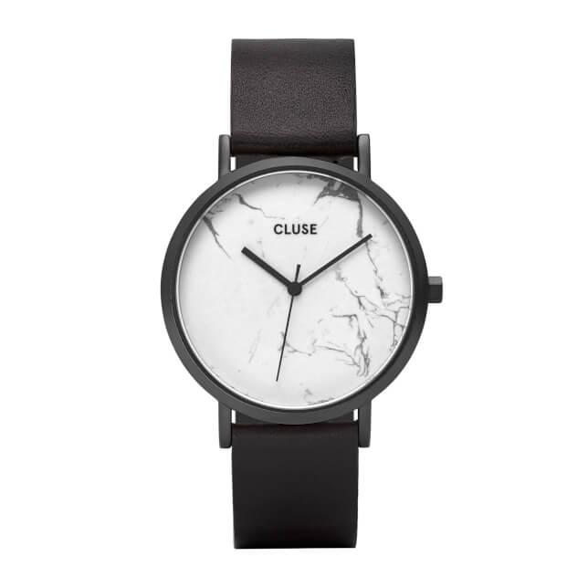 Cluse La Roche Full Black/White Marble
