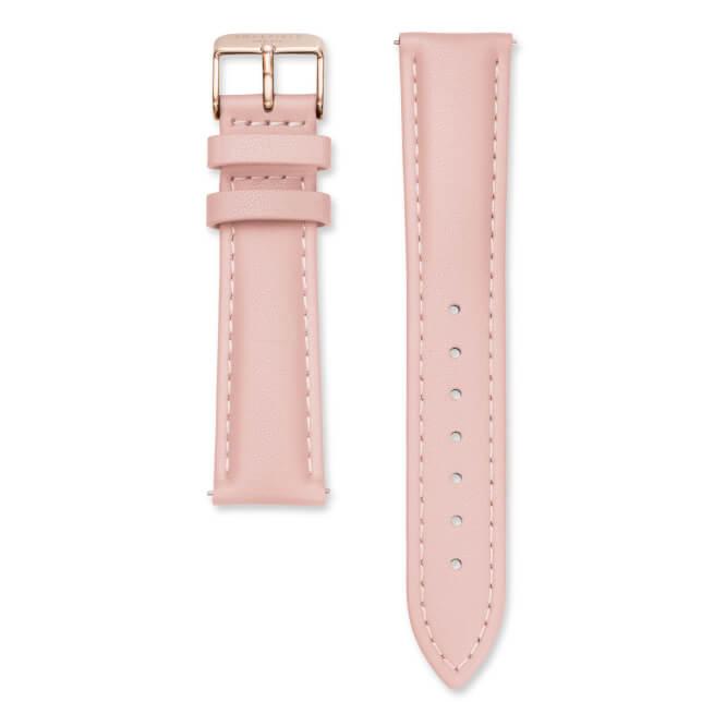 Rosefield Bowery kožený růžový / růžovozlatý / 18 mm