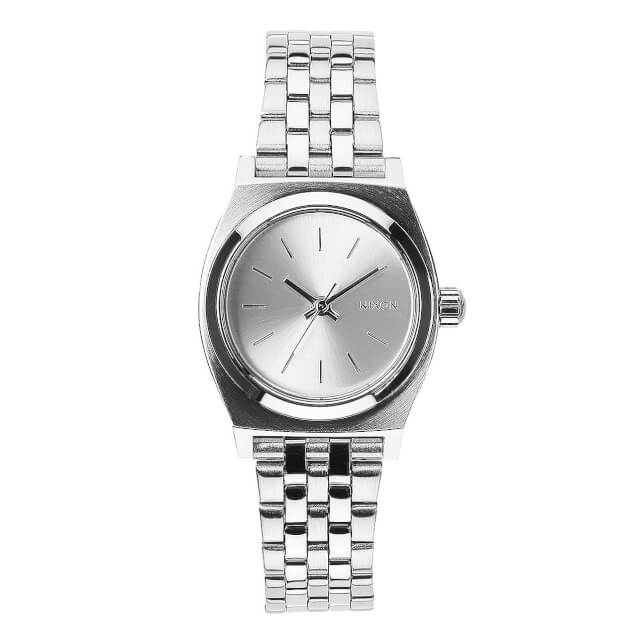 Nixon Small Time Teller All Silver