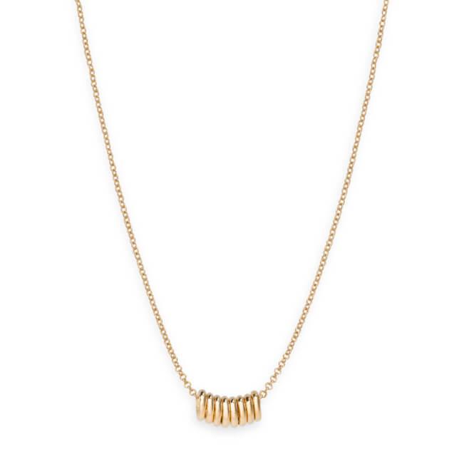 Rosefield Iggy Multi Hoop Necklace Gold