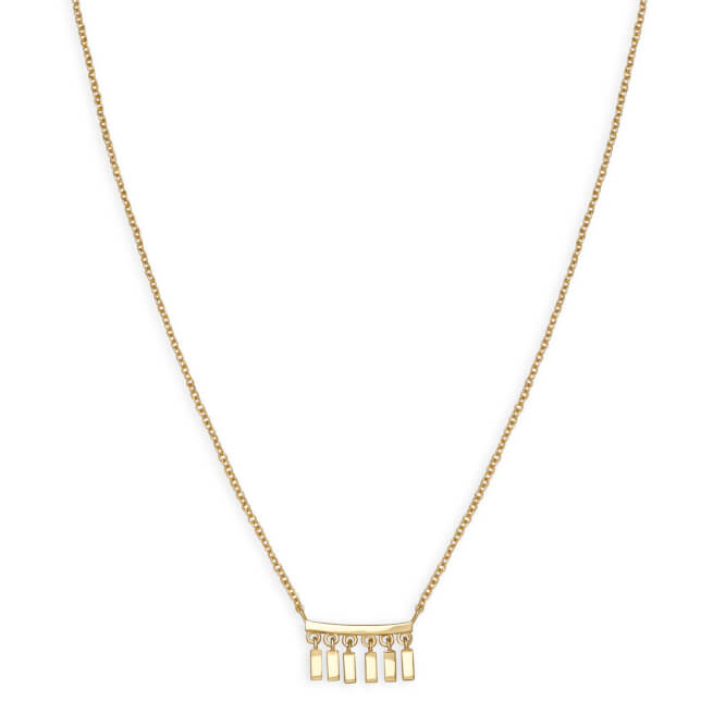 Rosefield náhrdelník Iggy Multidrop Necklace Gold