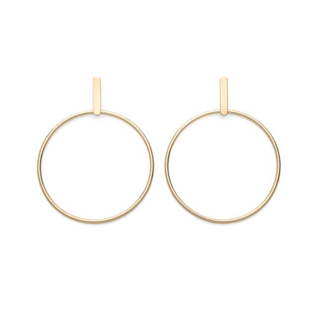 Rosefield náušnice Iggy Hoop Bar Earring Gold