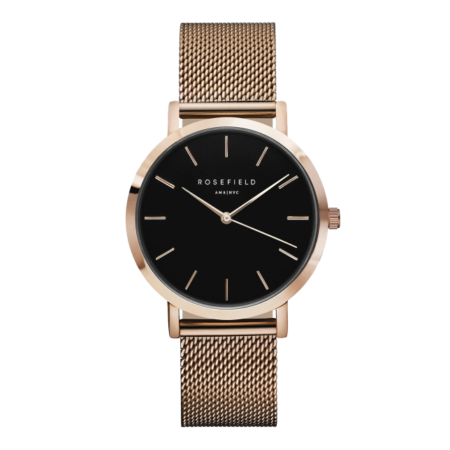 Rosefield The Mercer Rose Gold Black