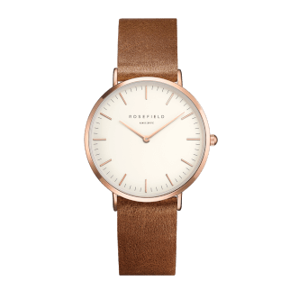 Rosefield The Tribeca Rosegold White/Brown