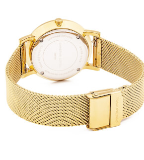 Hodinky Christian Lovell Premiere Gold Structure White Mesh Gold