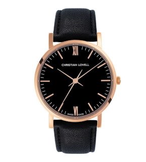 Hodinky Christian Lovell Premiere Rose Gold Black Black