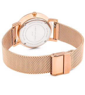Hodinky Christian Lovell Premiere Rose Gold Structure White Mesh Rose Gold