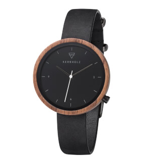 Hodinky Kerbholz Hilde Walnut Midnight Black