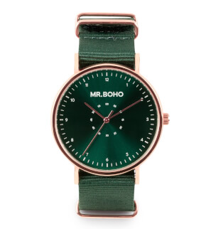 Hodinky Mr. Boho Metalic Casual Copper Green