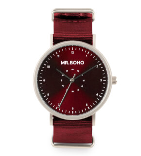 Hodinky Mr. Boho Metalic Casual Iron Burgundy