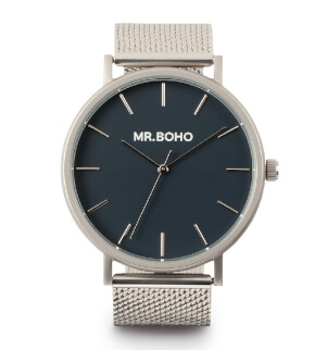 Hodinky Mr. Boho Metallic Classic Iron Blue