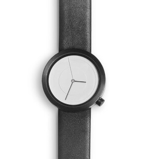 Hodinky Nava Air 39mm White with Black Crown