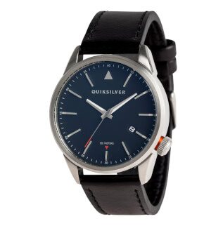 Hodinky Quiksilver Timebox Leather Silver Blue Black XSKK
