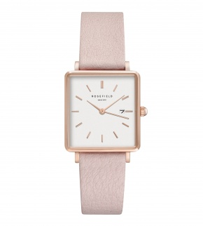 Hodinky Rosefield The Boxy White Pink Rosegold