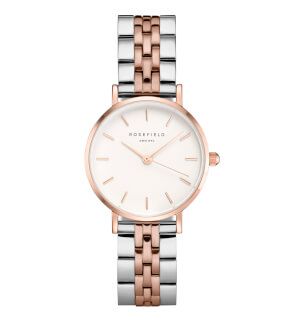 Hodinky Rosefield The Small Edit White Steel Silver Rosegold Duo 26mm