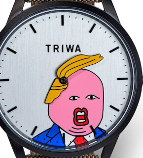 Hodinky Triwa Comb-Over black Donald Trump