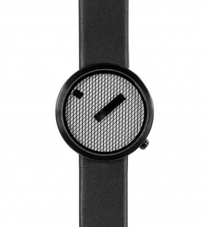 Hodinky Nava Jacquard Black 39mm Leather