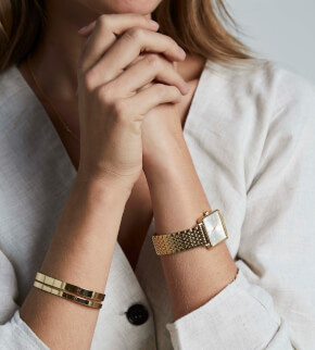Šperky Rosefield náramek Iggy Double Bar Bangle Gold