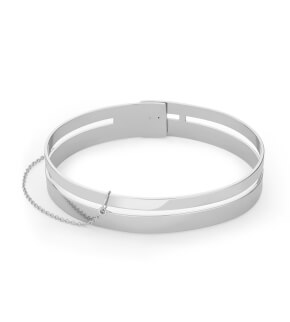 Šperky Rosefield náramek Iggy Double Bar Bangle Silver
