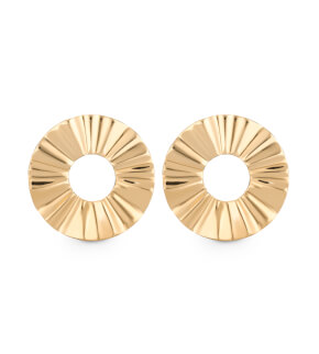 Šperky Rosefield náušnice Lois Liquid Waved Coin Earring Gold