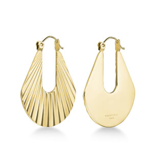 Šperky Rosefield náušnice Sunray Hoops Earrings Gold