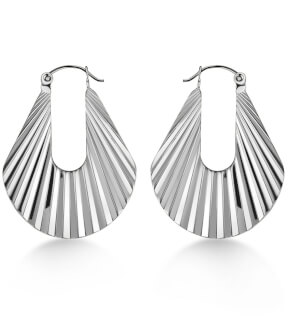 Šperky Rosefield náušnice Sunray Hoops Earrings Silver