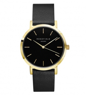 Hodinky Rosefield The Gramercy Gold Black/Black