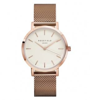 Hodinky Rosefield The Mercer Rose Gold White