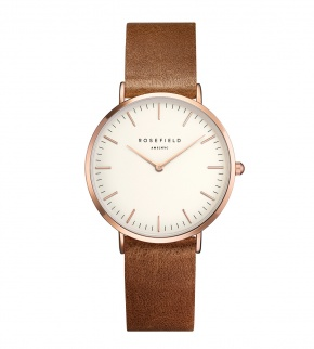 Hodinky Rosefield The Tribeca Rosegold White/Brown