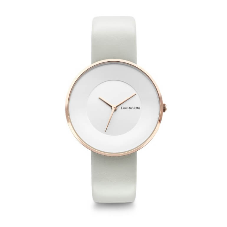 Cielo 34 Leather RoseGold White Ivory
