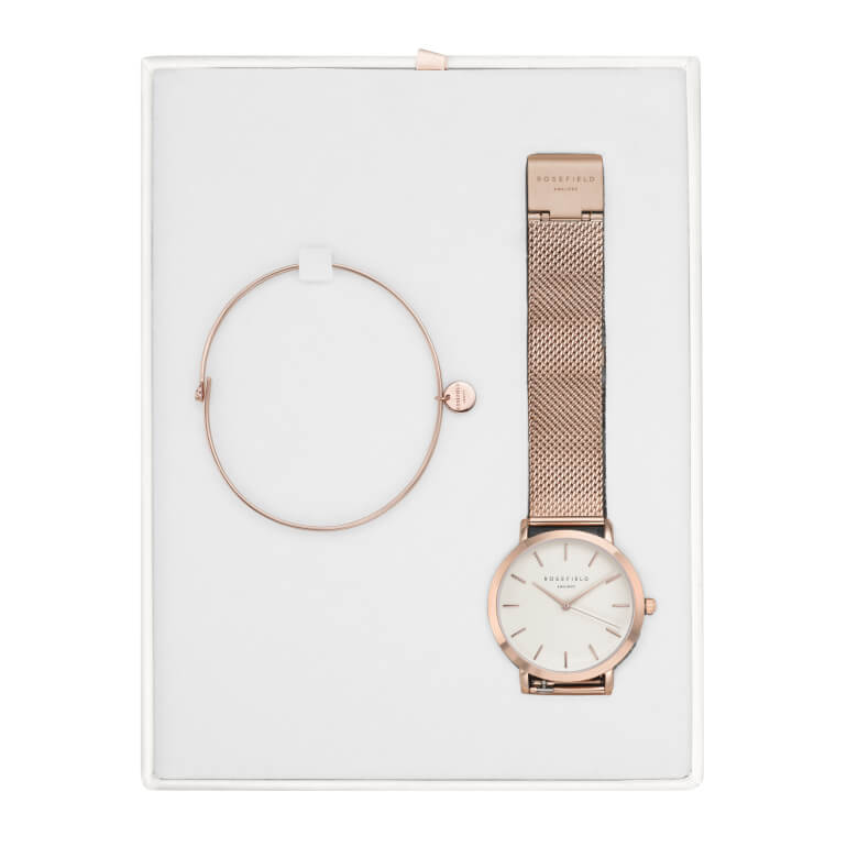 Dárkový box - Tribeca White Rose Gold + Wooster Rose Gold Small