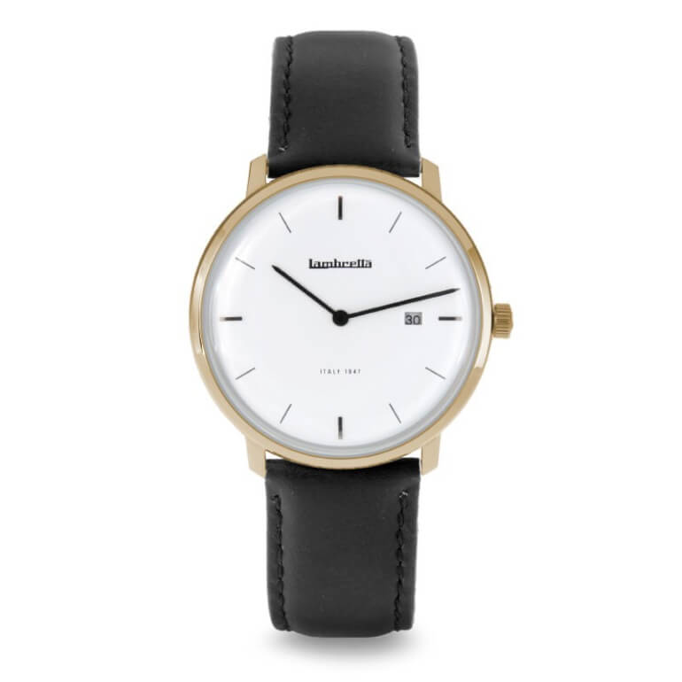 Volta 39 Leather Gold White Black
