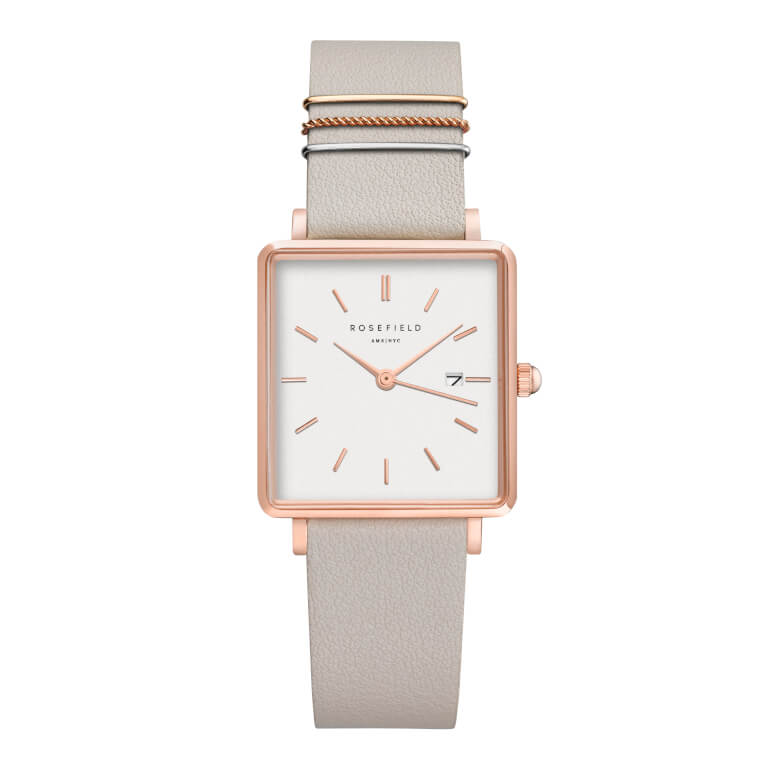 The Boxy White Cool Grey Rose Gold