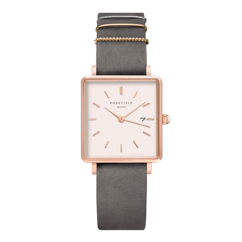 The Boxy White Elephant Grey Rosegold