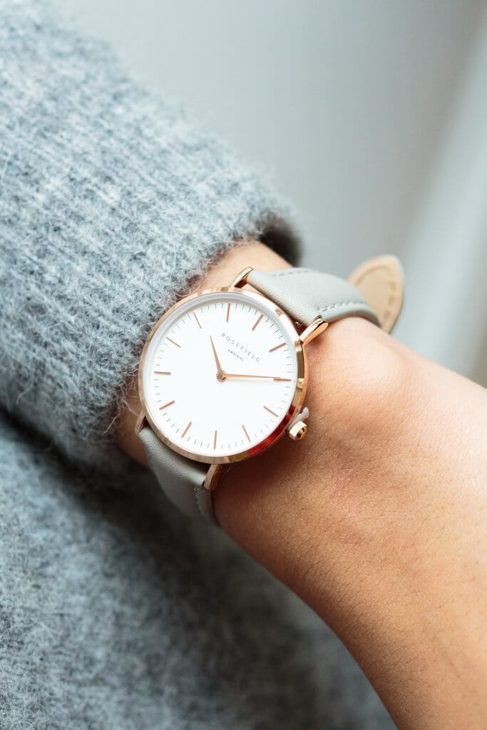 The Tribeca Rosegold White/Grey