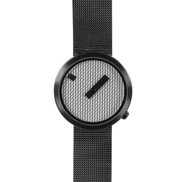 Jacquard Black 39mm Mesh