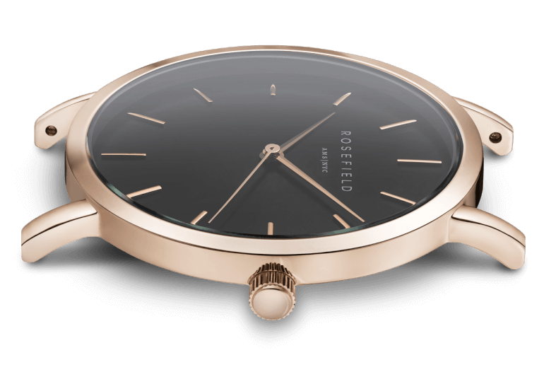 The Mercer Rose Gold Black