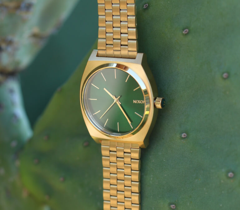 Time Teller Gold / Green Sunray