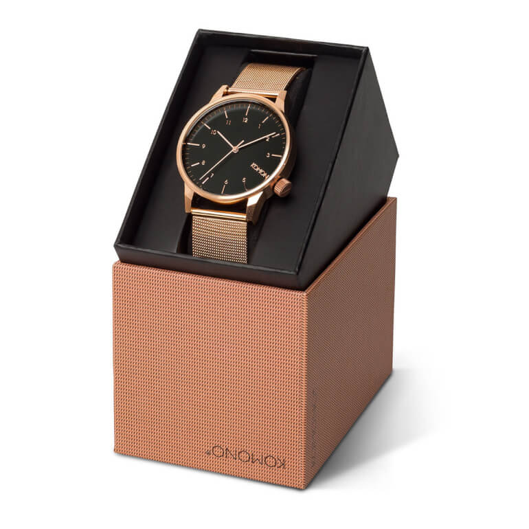 Winston Royale Rose Gold Black
